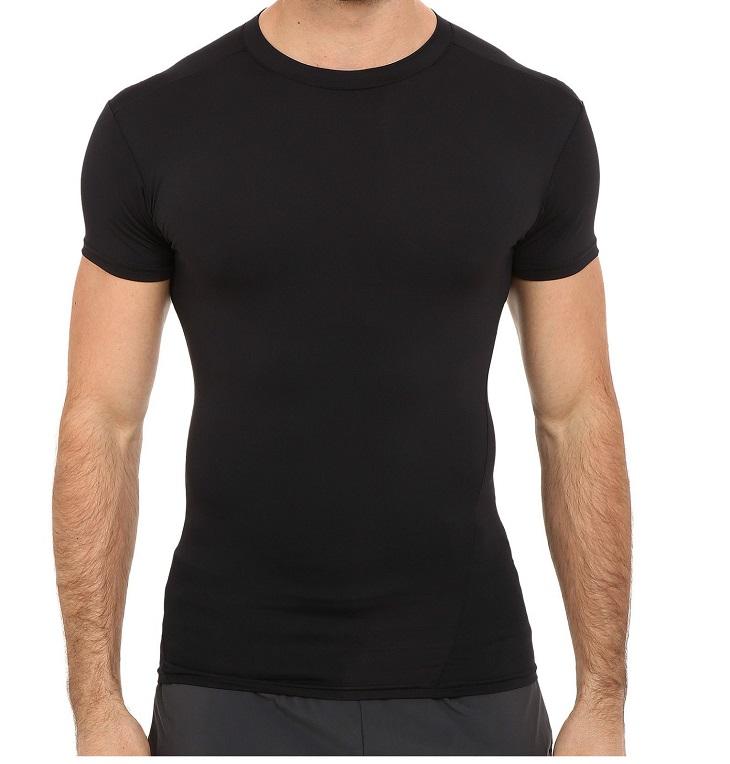 軍用 アンダーアーマー/Under Armour タクティカル コンプレッション ミリタリー Tシャツ Mサイズ ブラック  ヒートギア HEAT GEAR 【メール便配送可】