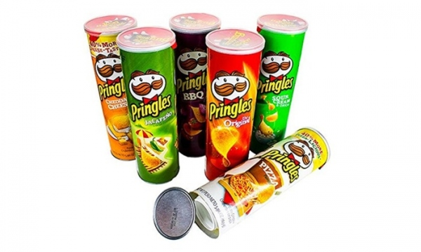 PRINGLES/プリングルス バーベキュー味 ポテトチップス 隠し金庫 セーフティボックス 紫 BBQ