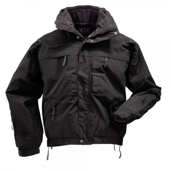 軍用 5.11 ファイブイレブン タクティカル 全天候・防寒 5 in 1 デューティー ジャケット S 黒 48017