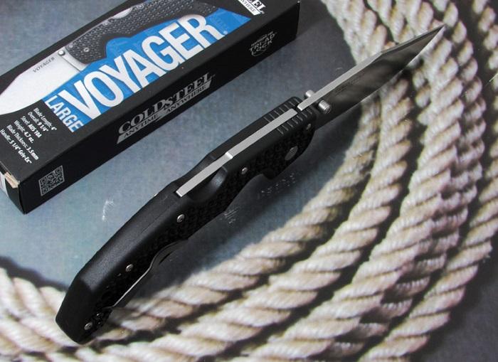 コールドスチール 29AC ヴォヤージャー ラージ AUS10A クリップポイント 直刃 ,折り畳みナイフ,COLD STEEL Voyager Large Clip Point Plain Edge (AUS10A)【レターパックプラス配送可】