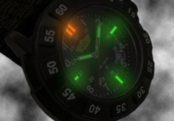 ウージー/UZI  ディフェンダー 発光トリチウム ウォッチ 腕時計 UZI-032M