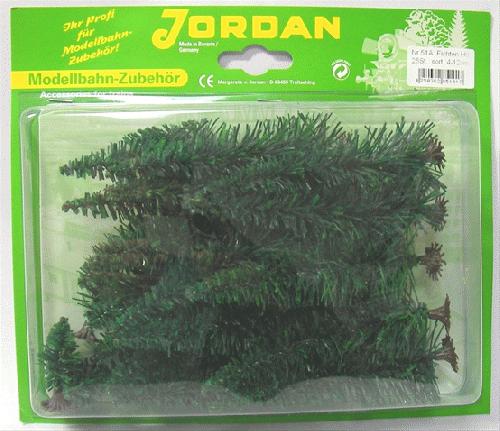 JORDAN(ジョルダン)JD51A 針葉樹 H約4cm,6cm,8cm,12cm 25本入 台座付
