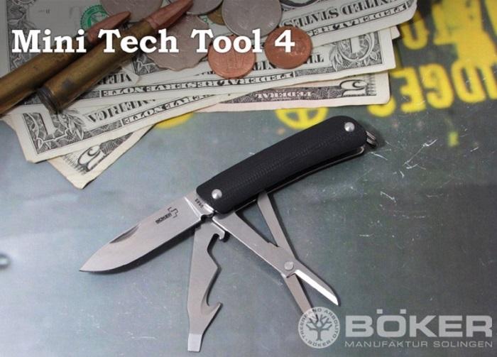 ボーカー プラス 01BO873 ミニ テックツール4 ,ツールナイフ,BOKER Plus Mini Tech Tool tool knife 【日本正規品】  【レターパックプラス配送可】