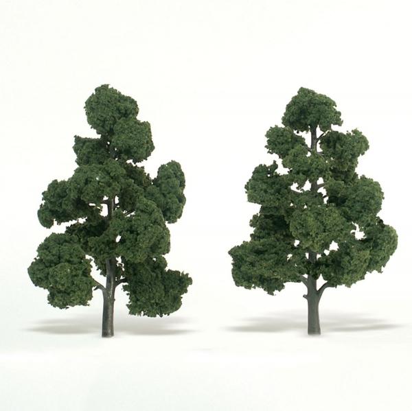 ウッドランド 完成樹木 広葉樹 ミディアムグリーン H約17.5-20cm 2本入