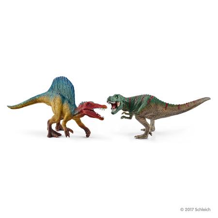 ☆Schleich (シュライヒ) スピノサウルスとティラノサウルス・レックス(小) 41455