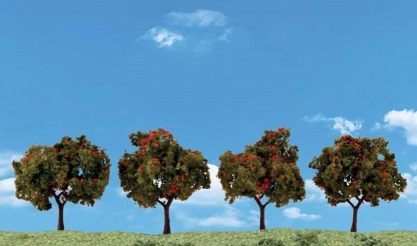 ウッドランド 完成樹木 りんごの木 H約5-7.5cm 4本入
