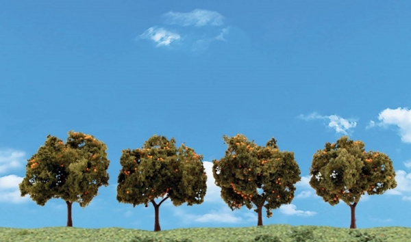 ウッドランド 完成樹木 みかんの木 H約5-7.5cm 4本入