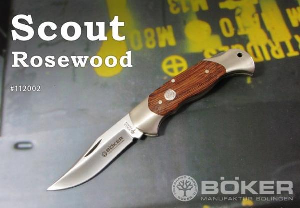 ・BOKER/ボーカー #112002 スカウト/ローズウッド2 折りたたみナイフ
