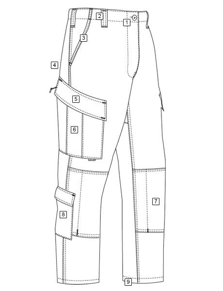 トゥルースペック/TRU-SPEC レスポンス パンツ マルチカム アライド MR 1321