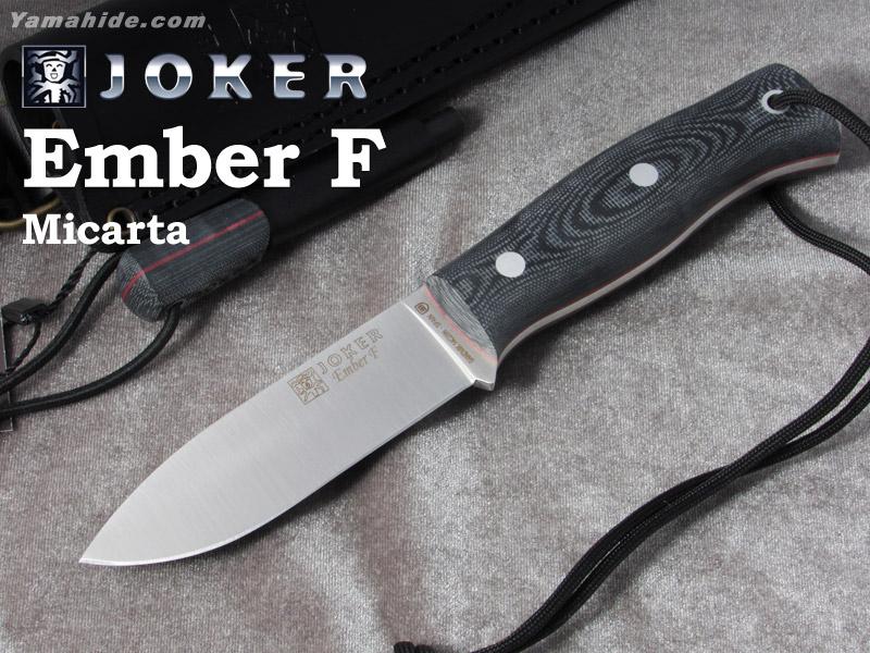 ジョーカー CM123-P エンバー F マイカルタ ファイヤースターター付 ブッシュクラフトナイフ,Joker EMBER FLAT BUSHCRAFT KNIFE MICARTA