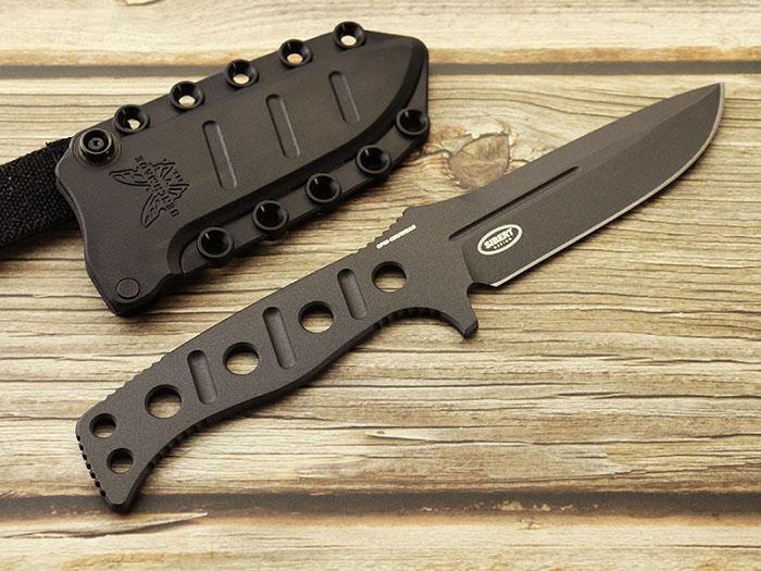 ベンチメイド 375BK-1 フィクスド アダマス ブラック シースナイフ ,BENCHMADE Fixed Adamas Black coating【日本正規品】