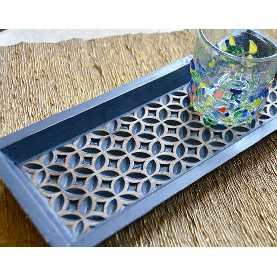 BALIZEN|木製トレイ(NAVY)