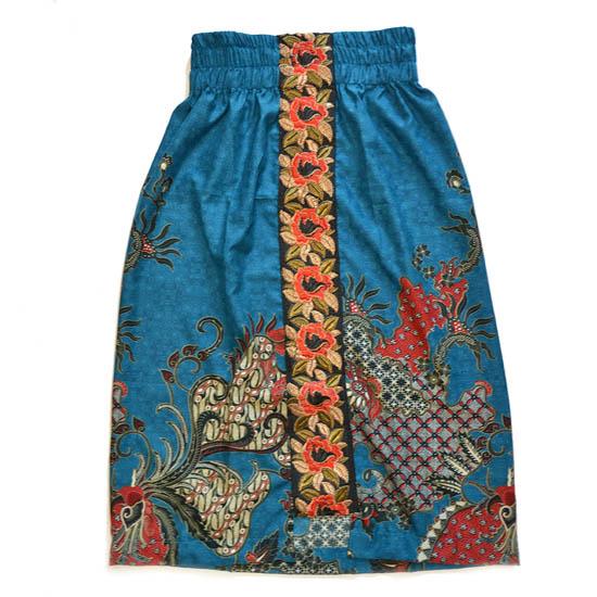 バティック・スカート<アスリ>ブルーMサイズ