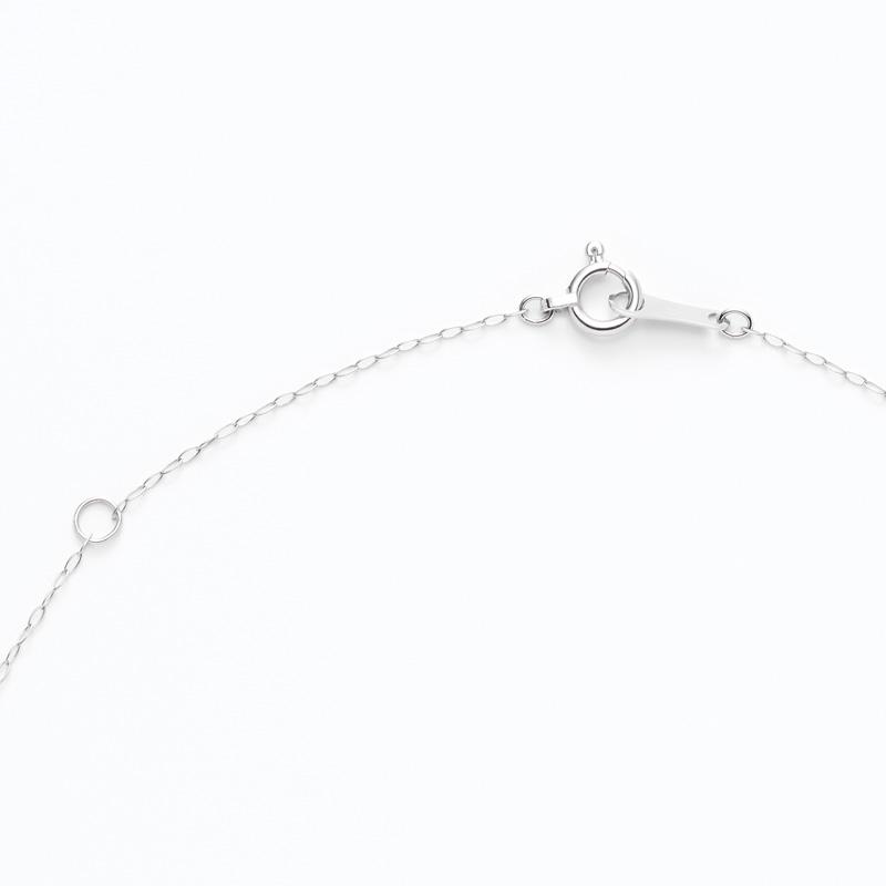 K18WGラボグロウンダイヤモンド Vラインペンダントネックレス