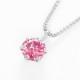 PT900ラボグロウンピンクダイヤモンド 0.22ctプチペンダントネックレス