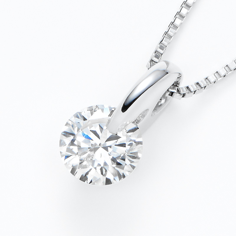 PT900ラボグロウンダイヤモンド 0.30ctプチペンダントネックレス