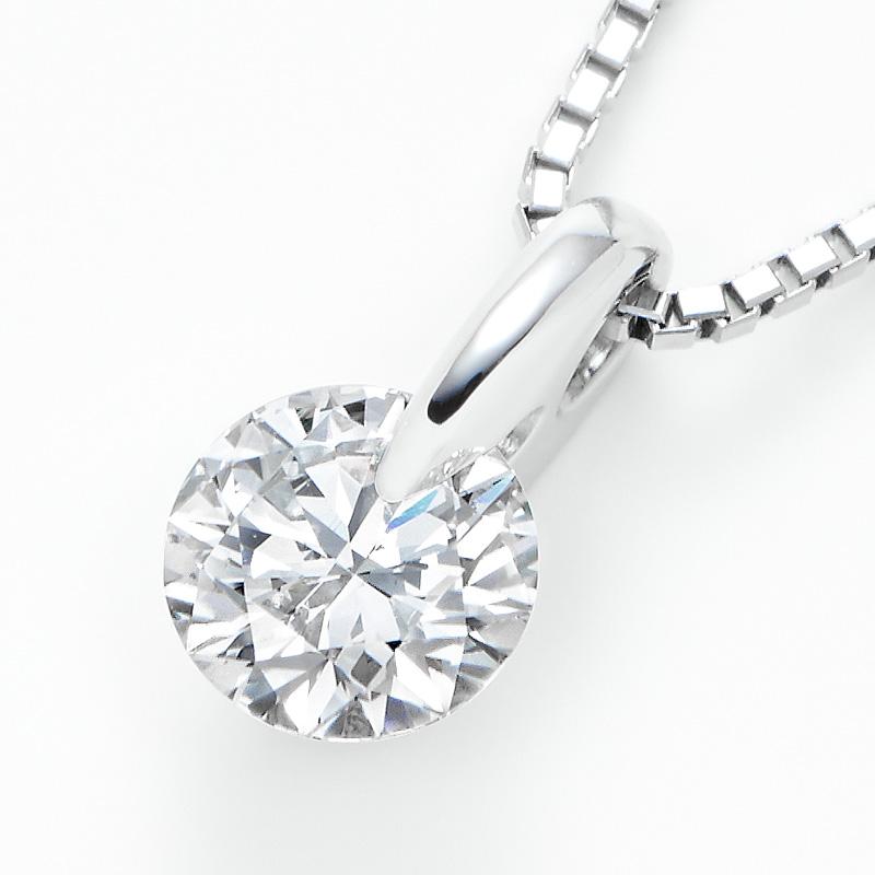 PT900ラボグロウンダイヤモンド 0.51ctプチペンダントネックレス
