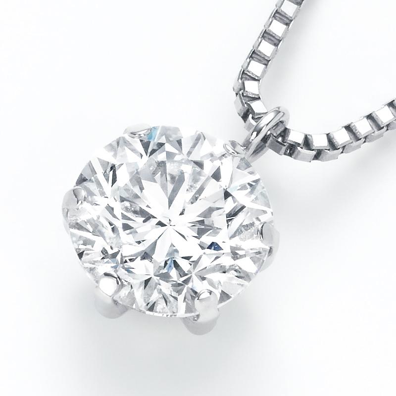 PT900ラボグロウンダイヤモンド 1.02ctプチペンダントネックレス