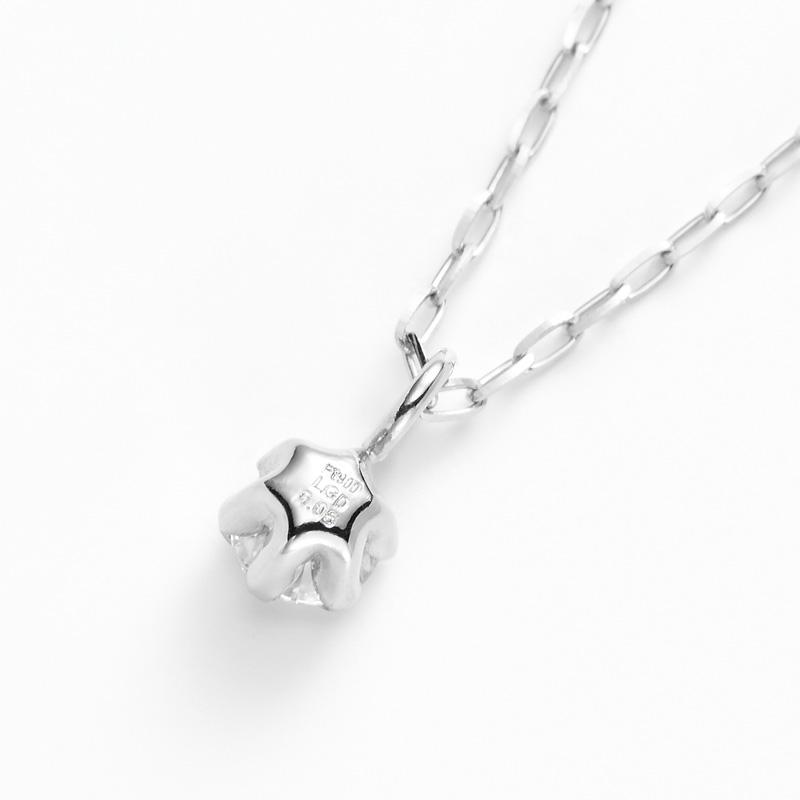 PT900ラボグロウンダイヤモンド 0.05ctプチペンダントネックレス