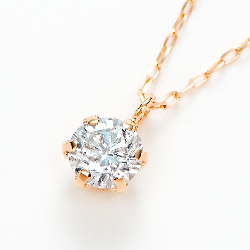 K18PGラボグロウンダイヤモンド 0.20ctプチペンダントネックレス