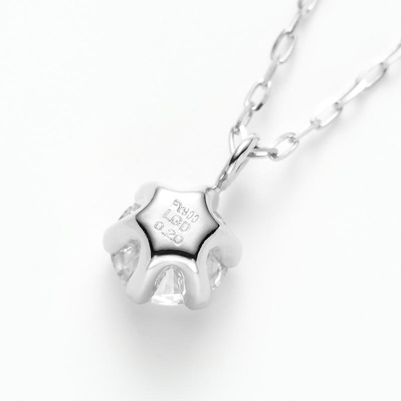 PT900ラボグロウンダイヤモンド 0.20ctプチペンダントネックレス