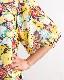可愛らしいフリル衿のプリントチュニック