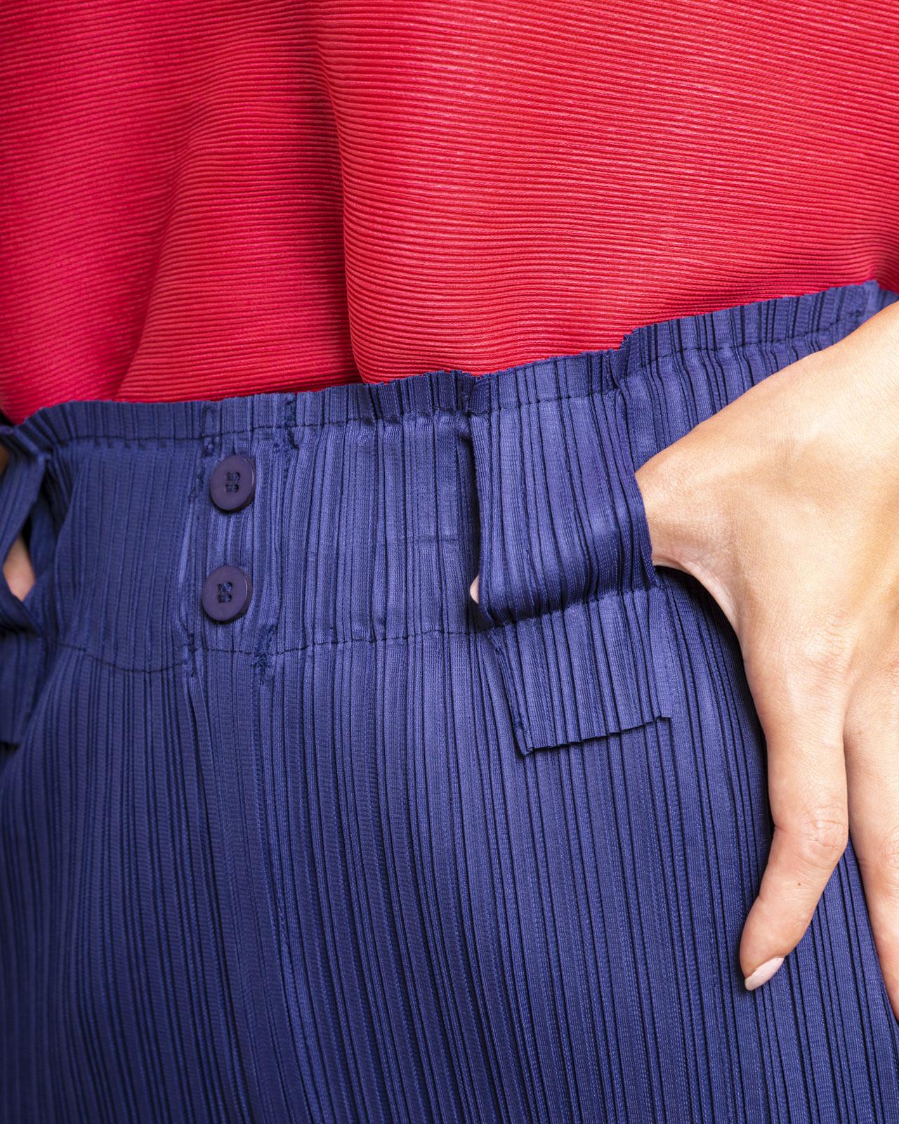 アルテソワ 履き心地良い細見えプリーツパンツ