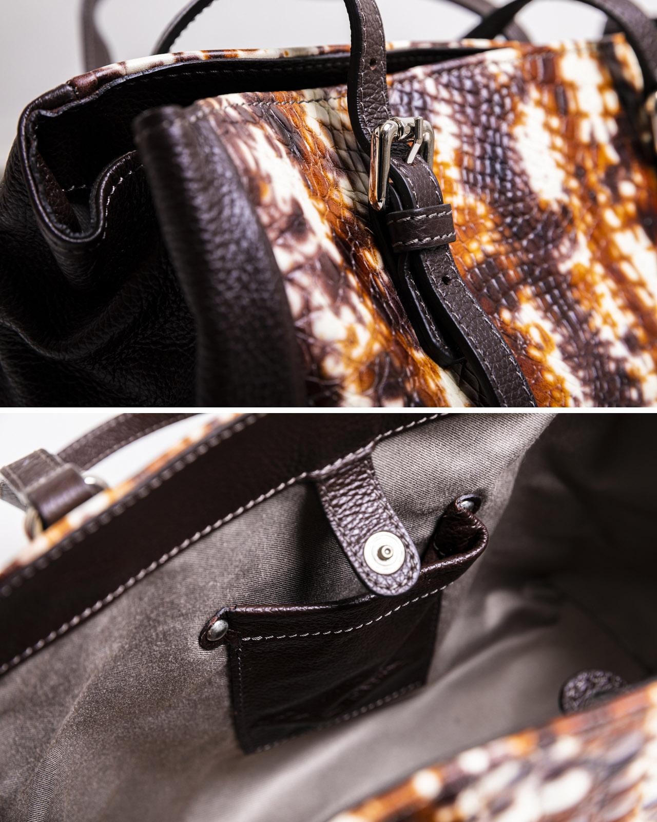 イタリア製 イタリアンレザー 型押し手描き本革バッグ アルテソワ リュクス
