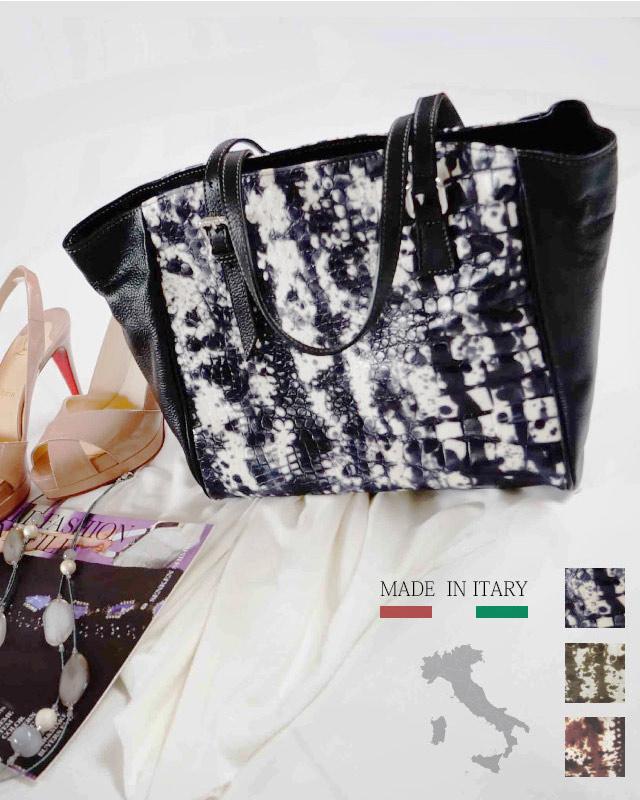 【特別価格】イタリア製 イタリアンレザー 型押し手描き本革バッグ アルテソワ リュクス