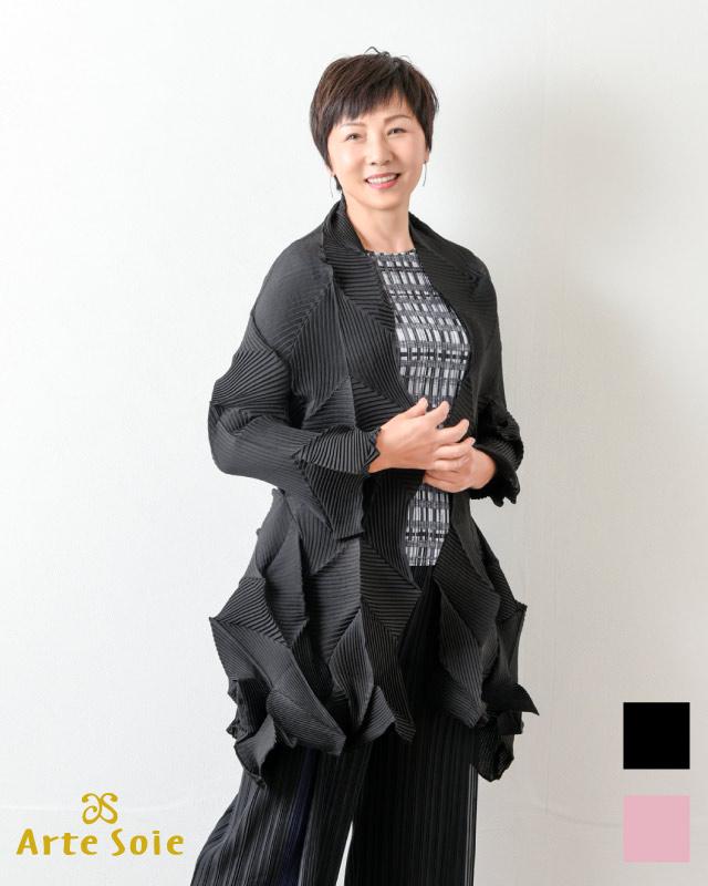 モード感ロングプリーツジャケット
