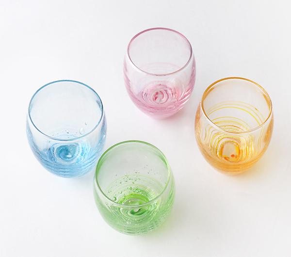 小島泰治 「流彩グラス」ピンク