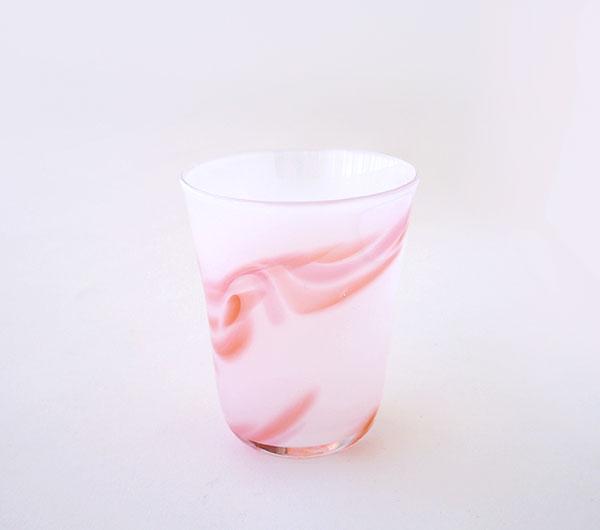 小島泰治 「浮き漂う色」 グラス(ピンク)