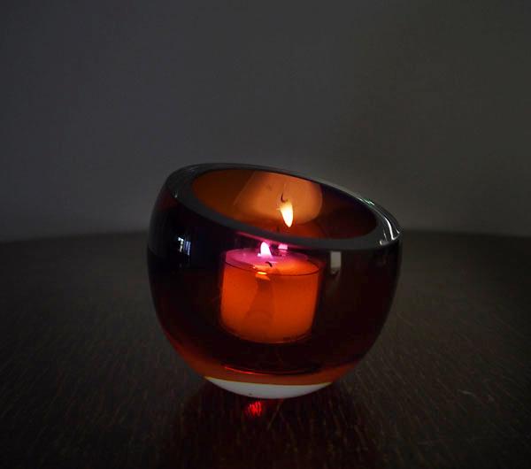 小島泰治 「Color holder 赤」キャンドルホルダー