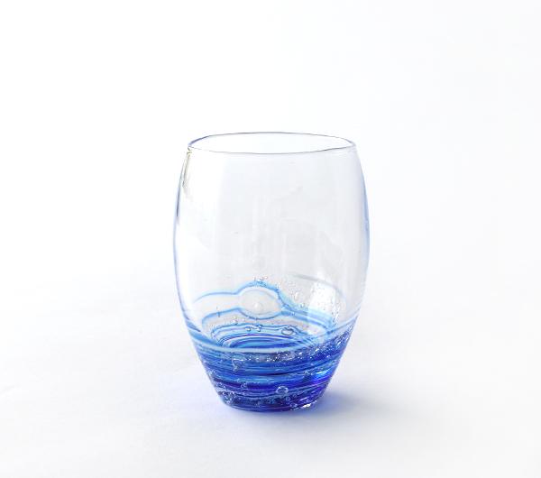 小島泰治 「流彩」グラス/青