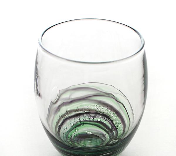 小島泰治 「流彩」グラス/深緑