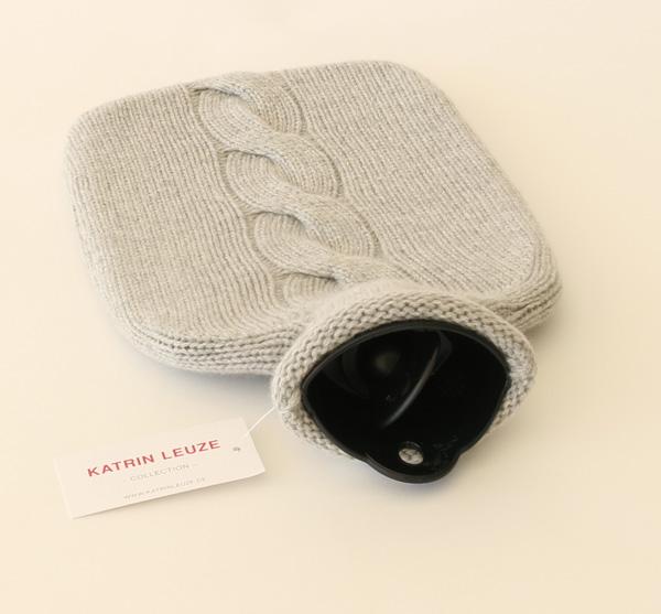 Katrin Leuze Collection/湯たんぽ/カシミヤ100%/grey mel