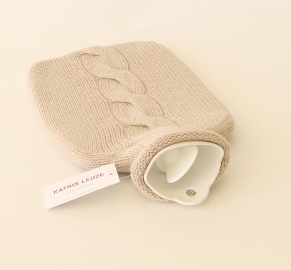 Katrin Leuze Collection/湯たんぽ/カシミヤ100%/beige mel