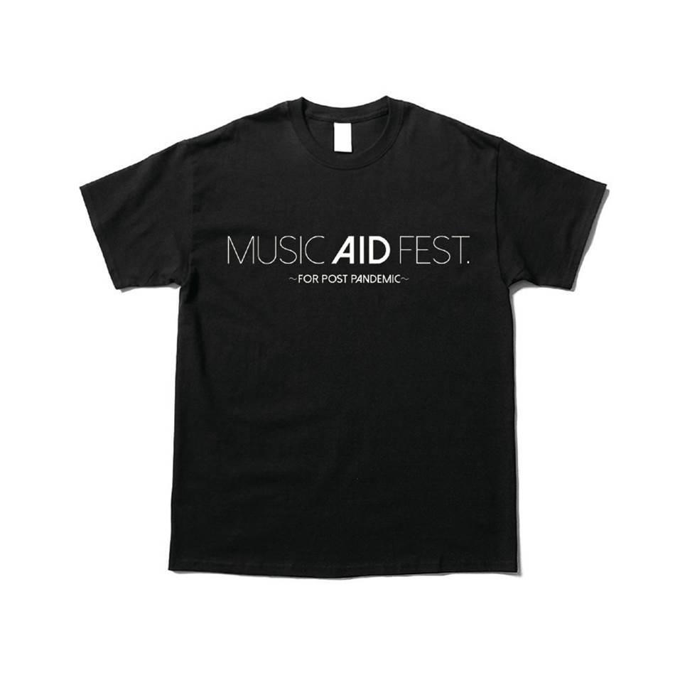 MUSIC AID FEST Tシャツ(黒)