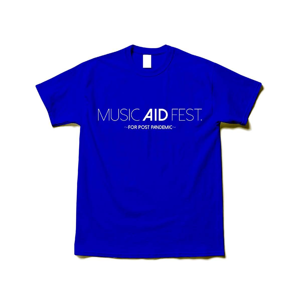 MUSIC AID FEST. Tシャツ (青)