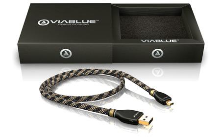 VIABLUE (ヴィアブルー) KR-2 SILVER High-End USBケーブル A/MINI-B