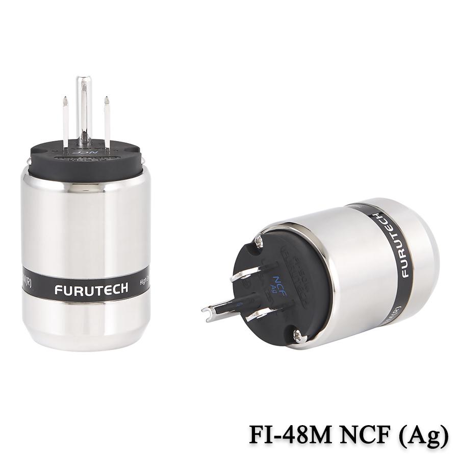 FURUTECH (フルテック) FI-48M NCF (Ag)/(R) ハイエンドグレード 電源プラグ (銀/ロジウムメッキ)