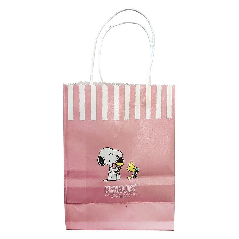 スヌーピー ペーパーミニバッグ ピンク