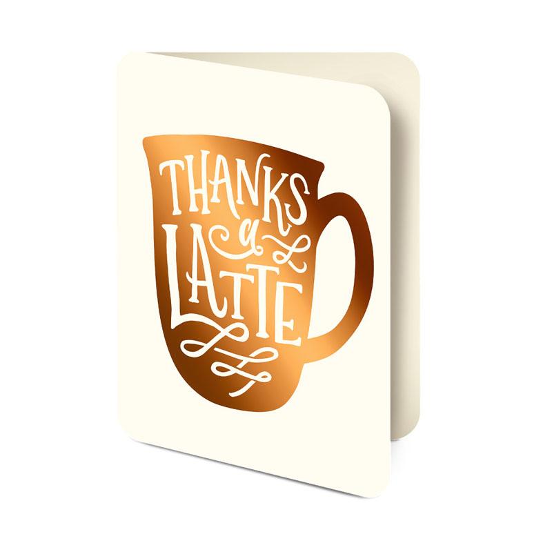 オレンジサークルスタジオ グリーティングカード Thanks a Latte (OCS-01)