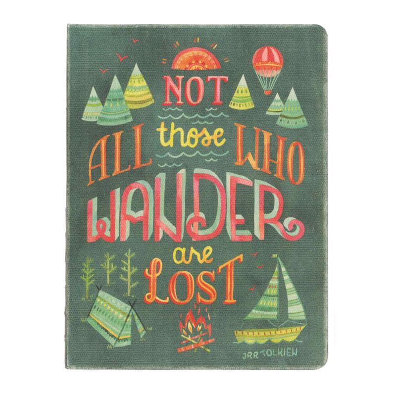 オレンジサークルスタジオ ノート オリジナルサイズ(キャンバス地表紙) Not All Those Who Wander (OCS-27)