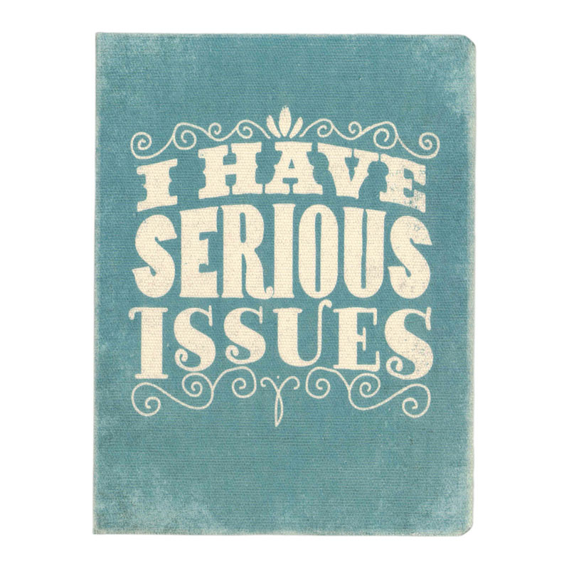オレンジサークルスタジオ ノート オリジナルサイズ(キャンバス地表紙) I Have Serious Issues (OCS-28)
