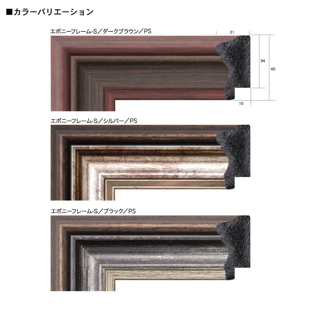 樹脂フレーム/エボニーフレーム(S) 四ツ切サイズ(348×424mm)