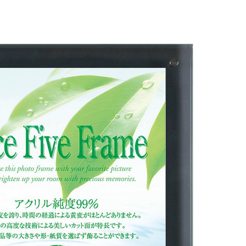 アクリルフレーム/フォトフレーム フェイスファイブフレーム スモーク B4サイズ(257×364mm)