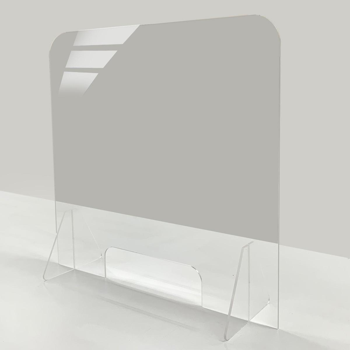 飛沫防止 アクリルパーテーション 窓あり小(W600×H575mm)