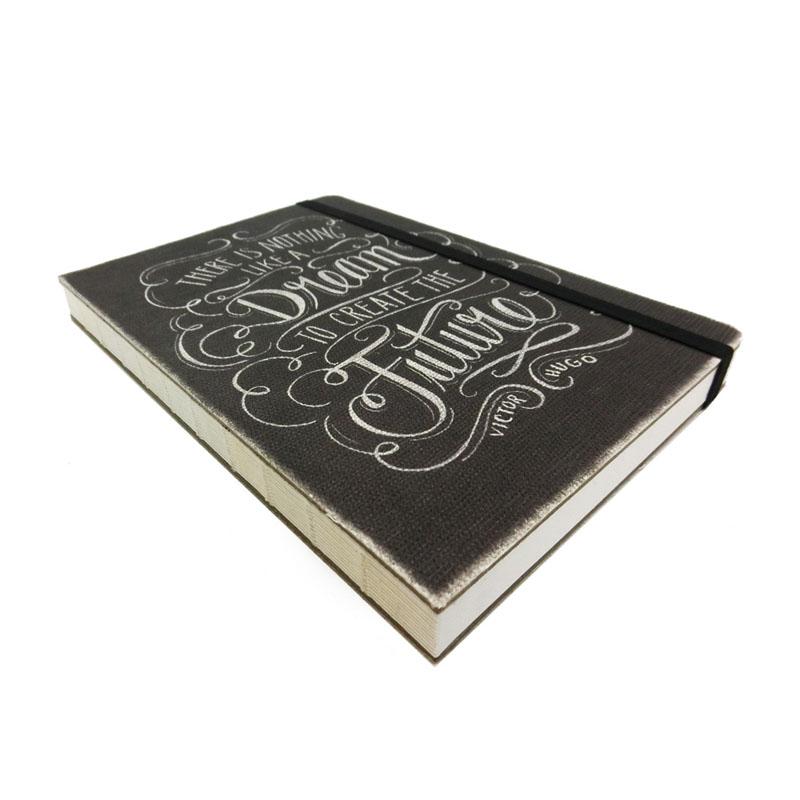 オレンジサークルスタジオ ノート コンパクトサイズ (キャンバス地表紙) Chalkboard-Dream (OCS-34)