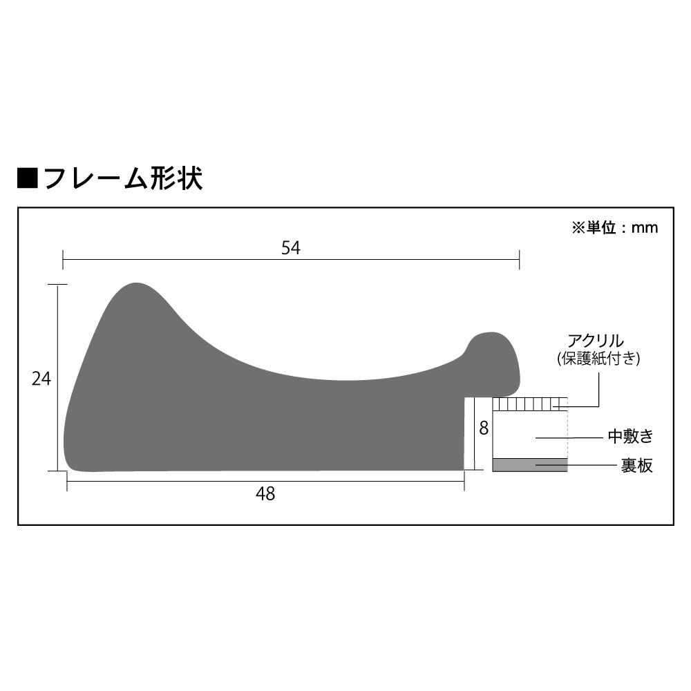 樹脂フレーム/カルマフレーム 四ツ切サイズ(348×424mm)